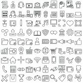 Set Of Vector Business Outline Icons For Design