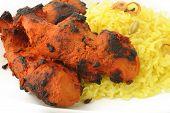 Tandoori Chicken Tikka With Pilau Rice