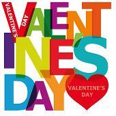 Vector valentine's day. Broken text.