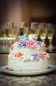 Wedding Cake On The Plate