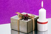 Gift Box And Candle