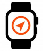 Smartwatch with GPS icon