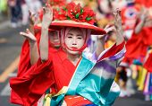 Japanese Festival Dancers in Kimono