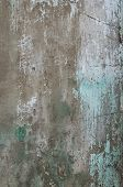 Old Paint Peeling From Wall