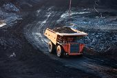 stock photo of open-pit mine  - coal - JPG