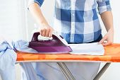 Ironing On A Board