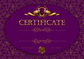 Elegant template of certificate, diploma