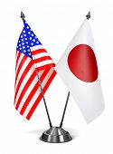 USA and Japan - Miniature Flags.