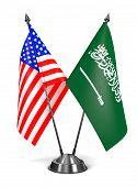 USA and Saudi Arabia - Miniature Flags.