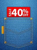 Sale Forty Percentage Off