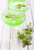 Mint Spritzer In Glasses