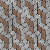 Pavement of Brown and Gray Tiles. Seamless Texture.