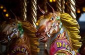 stock photo of merry-go-round  - close - JPG