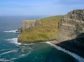 image of cliffs moher  - Cliffs of Moher in County Clare Ireland - JPG