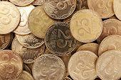 Ukrainian coins, macro view
