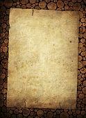 vintage paper on stumps background