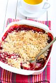 Fruit And Almond Crumble