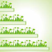 Ecology Concept - eco cityscape stock vector