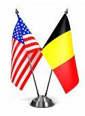 USA and Belgium - Miniature Flags.
