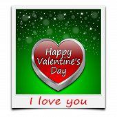 happy Valentine's Day on instant photo