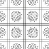 Simple Seamless Pattern With Circles And Lines