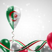 Algeria flag on balloon