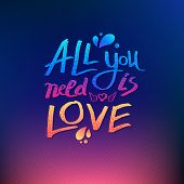 All You Need Is Love inspirational card design