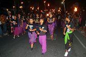 Balinese Hindu festival of Pengrupukan