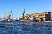 Ice-free Port On The Baltic Sea