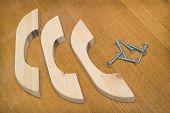 Wooden Furniture Handles, Made Of Alder