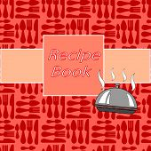 stock photo of recipe card  - Recipes card with different kitchen accessories and a banner - JPG