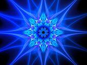 Blue Glowing Plasma Flower In Space