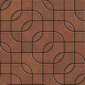 Brown Pavement with a Complex Pattern.