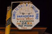 Taxi Service Sign, Lake Titicaca, Peru