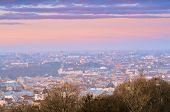 Night Lviv landscape