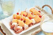 pic of canapes  - Appetizer canape with melon - JPG
