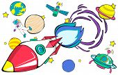 pic of outerspace  - Rocket Launch Space Outerspace Planets Concept - JPG