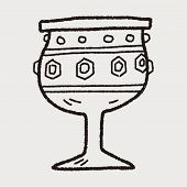 stock photo of chalice antique  - Grail Holy Doodle - JPG