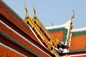 picture of gable-roof  - Roof tile in temple - JPG