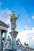 pic of goddess  - Parliament building in Vienna Austria - JPG