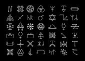 pic of pentagram  - Big set of religion and philosophy - JPG