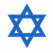 stock photo of covenant  - image of the Star of David on a white background isolated - JPG