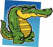 foto of alligators  - Vector illustration of a smirking cartoon alligator - JPG