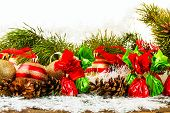 stock photo of pine cone  - New Year Christmas - JPG