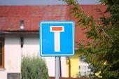 stock photo of traffic rules  - No through road  - JPG