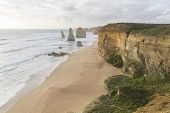 stock photo of 12 apostles  - This photo was shot from Twelve Apostles which is on the Great Ocean Road Australia - JPG