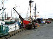 Dock Side  Close Up Fishing Vessel