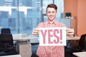 picture of slogan  - Say yes - JPG