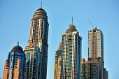 pic of emirates  - Skyscrapers in Dubai Marina at sunset - JPG
