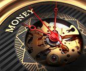 stock photo of watch  - Money on Black - JPG
